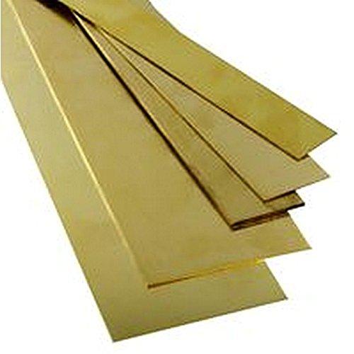 BRASS STRIP 0.025' X 3/4' X 12' Engineering Materials Brass K&S8726