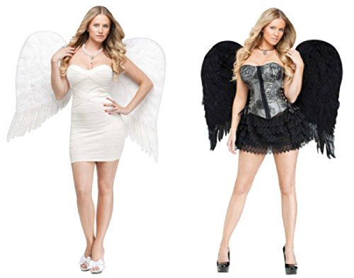 ANGEL WINGS FEATHR ADLT BLK