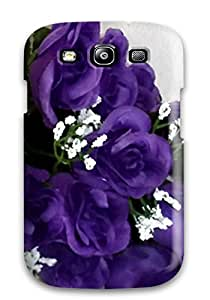 XQpjoDt4475KnBAo Case Cover Protector For Galaxy S3 Purple Flowers Case