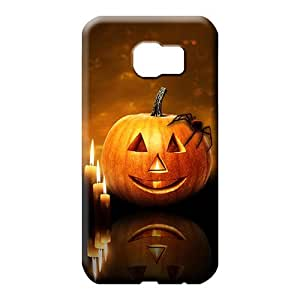 samsung galaxy s6 edge case High-end Hot Fashion Design Cases Covers mobile phone carrying cases halloween pumpkin candles