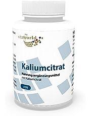 Vita World Kaliumcitraat 605 mg dagelijkse dosis 120 capsules apotheken productie kalium citraat