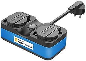 WiFi-buitenstopcontact werkt met Apple HomeKit, meross Smart-buitenstopcontact waterdicht, WiFi-tuin dubbel stopcontact...
