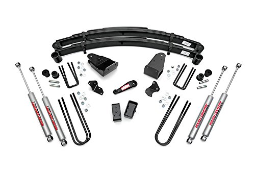 Rough Country - 490-87UP.20 - 4-inch Suspension Lift Kit w/ Premium N2.0 Shocks for Ford: 87-98 F250 4WD