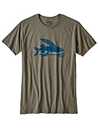 Patagonia Mens Flying Fish SS Tee, INDG-Green, S