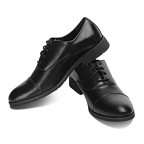 Men Casual Fashion Black Oxford Shoes (10, Black)