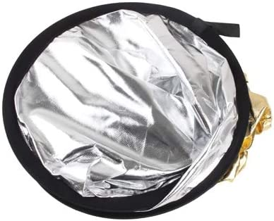 CAOMING 2 in 1 Gold//Silver Durable 110cm Folding Reflector Board