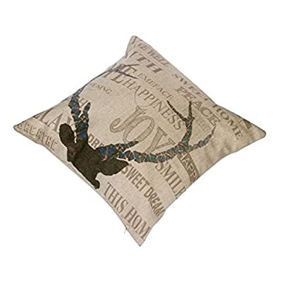 FairyTeller Linen Cotton Car-Covers Square Decorative Vintage Cushion Cover Throw Pillow Covers Quality First