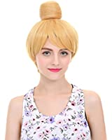 Angelaicos Women's Prestyled Buns Party Anime Cosplay Costume Wig Short Blonde