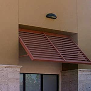 Beauty-Mark OH22-At-4COP Awntech's 4-Feet Ohio Metal Shutter Awning 56-Inch W X 24-Inch H X 24-Inch D Copper