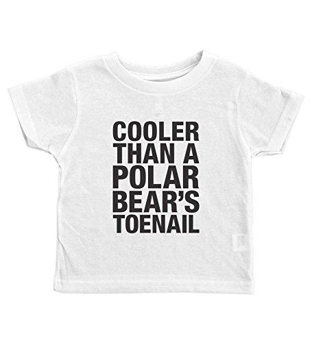 Baffle® Outkast Toddler Tee/Polar Bears TOENAIL/90's Rap Toddler Shirt (5/6T, White) ()