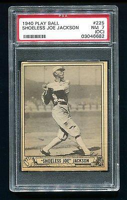 Amazoncom 1940 Play Ball Shoeless Joe Jackson 225 Psa 7 O