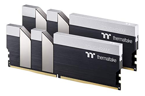 Thermaltake TOUGHRAM Black DDR4 4400MHz C19 16GB (8GB x 2) Memory Intel XMP 2.0 Ready with Real-Time Performance Monitoring Software R017D408GX2-4400C19A