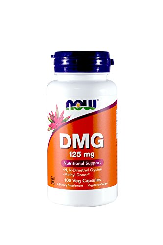 NOW Foods Dmg 125mg, 100 Capsules (2 bottles of 100)