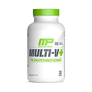 MusclePharm Essentials Multi-V+ Tablets, High Performance Multivitamin, 30 Servings