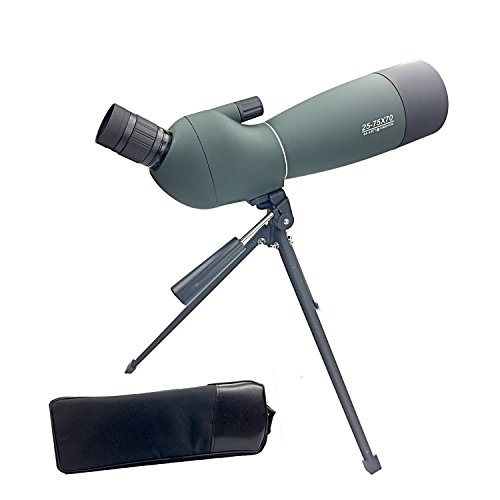 Twod 25-75X 70 Spotting Scope Waterproof, 45 Degree Angled Eyepiece with Tripod for Bird Watching Telescope, Target Shooting, Outdoor Activities by Twod