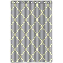 """48""""x72"""" Inches Moroccan Tile Quatrefoil Gray Lattice Rideau de douche New Waterproof Polyester Fabric Bath Curtain ( Shower Rings Included )"""