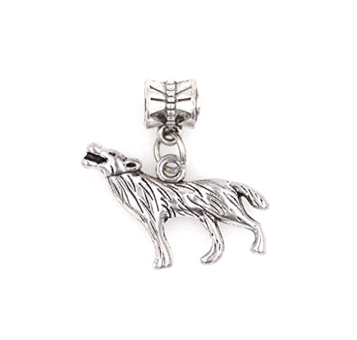 It's All About...You! Wolf Dangling European Bead Charm 92J