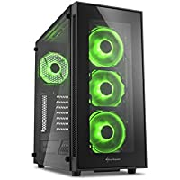 Centaurus Polaris 4T1G7 Gaming PC - Intel i7 8700K Six-Core 4.7GHz OC, 32GB RAM, Nvidia SLI 2x GTX 1070 8GB, 500GB SSD + 2TB HDD, Liquid Cooled, Windows 10, Tempered Glass, AC WiFi
