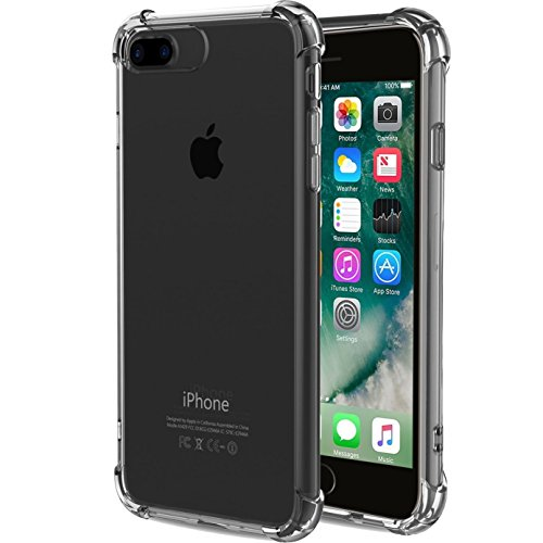iBarbe Crystal Clear cover for iPhone 7/8 Plus,Slim fit Shock Absorption Bumper Heavy Duty Protection Soft TPU Cover Case for iphone 7/8 Plus 5.5