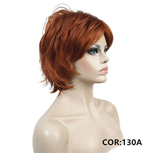 Short Layered Shaggy Copper Red Full Synthetic Wig Women's Wigs COLOUR CHOICES 130A -