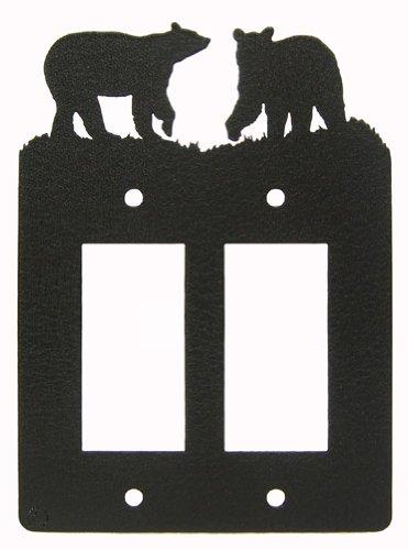 Bear Double GFI Rocker Light Switch Plate Cover