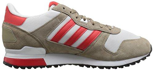 Adidas Originals Mænds Zx 700 Livsstil Runner Sneaker Fragt Khaki / Rød / Hvid DIQer3dxj