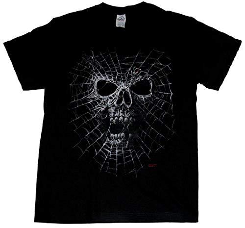 Skull Black Widow Spider Web Adult T-Shirt-5Xl ()