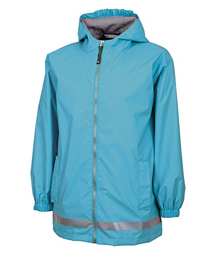 Price comparison product image Charles River Apparel Kids' Big New Englander Rain Jacket, hot Pink/Reflective, XL