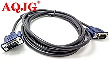 Computer Cables 1.5m//3m//5m VGA Extension Cable HD 15 Pin Male to Male VGA Cables Cord Wire Line Copper Core for PC Computer Monitor Projector Cable Length: 1.5m