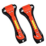 VicTsing 2Pcs Car Safety Hammer, Car Escape Tool with Seatbelt Cutter, Emergency Class/Window Punch Breaker Life-Saving Portable Hammer Tool