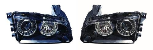 Go-Parts - PAIR/SET - OE Replacement for 2008 Dodge Magnum Front Headlights Headlamps Assemblies Front Housing/Lens/Cover - Left & Right (Driver & Passenger) Side CH2503216 CH2502216 4806442AB (Dodge Magnum Srt8 Headlights)