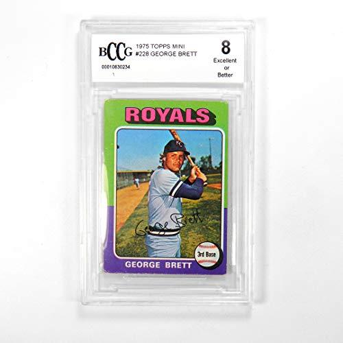 (1975 Topps Mini George Brett #228 Kansas City Royals BCCG)