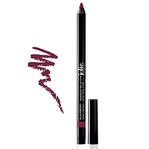 Jolie Cosmetics Waterproof Gel Lip Liner - Super Smooth, Extra Long-Wear (Blackberry)