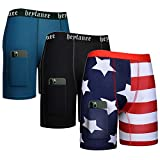 Heyfanee Mens Compression Shorts 5 Inch Spandex