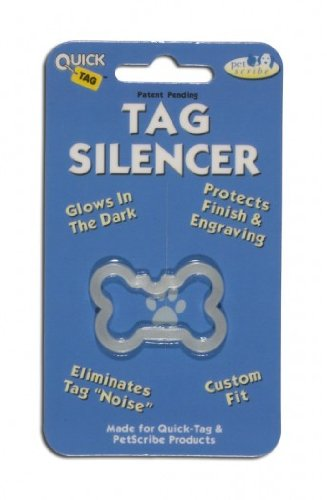 Whimsical Practicality Quicktag Dog Tag Silencer, Large Bone