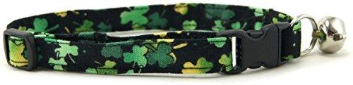 - K9 Bytes Lucky Irish Shamrocks Cat Collar