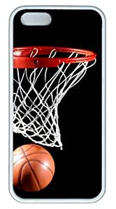 Cool Basketball DIY Rubber White iphone 5/5s Case Perfect By Custom Service