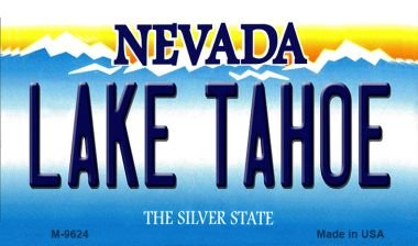 (Smart Blonde Lake Tahoe Nevada Background Novelty Metal Magnet M-9624 Mini Licence Plate Magnet)
