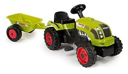 Amazon.com: Smoby Kids Pedal Pedal de Claas Tractor verde y ...