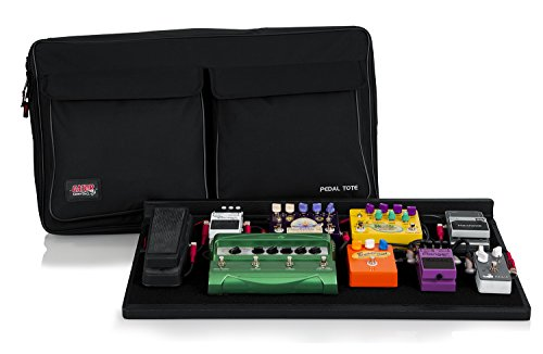 (Gator Cases Guitar Effects Pedal Board with Tote Bag, Velcro Surface, and G-BUS Multi-Output Power Supply; Pro Size: 30