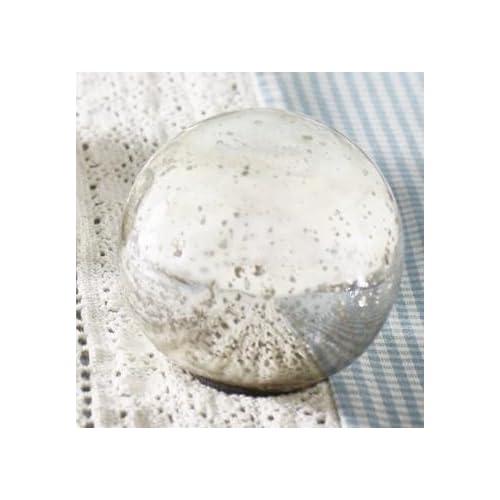The Market Street Small Silver Mercury Glass Orb
