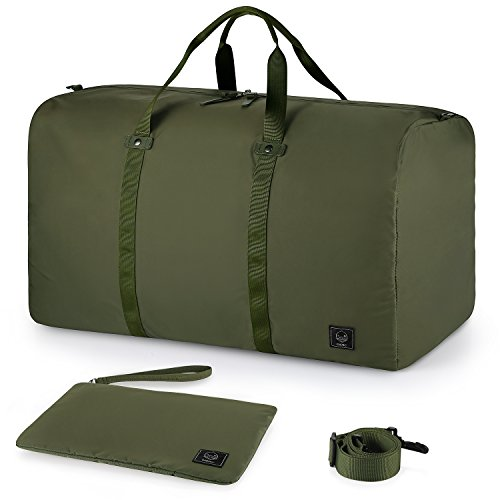 Travel Duffle (GAGAKU 80L Foldable Travel Duffel Bag Packable Lightweight Duffle Large Flight Cabin Bags for Travel - Green)