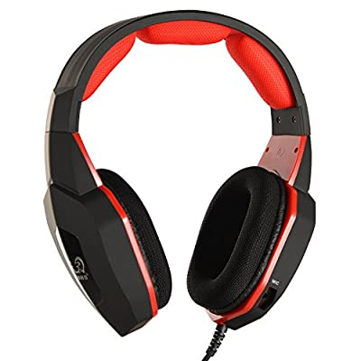 Headset/Headphones ,HUHD 2014 Newest Premium Noise Cancelling Wired Gaming Headset/Headphones For PS4, PS3, PS2 and Xbox 360, PC With Rotation Type Mic--Black