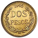 1945 MX Mexican Gold Coin 2 Pesos BU