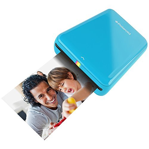 Polaroid ZIP Handydrucker mit ZINK Zero tintenfreier Drucktechnologie - Kompatibel mit iOS- & Androidgeräten - Blau