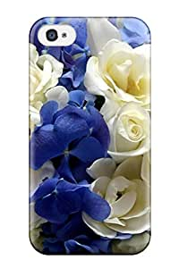 4220581K12258259 Iphone 4/4s Flower Print High Quality Tpu Gel Frame Case Cover