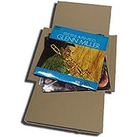 CUIDATUMUSICA 25 Cajas DE Carton Cruz Embalaje Y Envio para Enviar DE 1 A 3 Discos DE Vinilo LP (Los Discos Grandes…