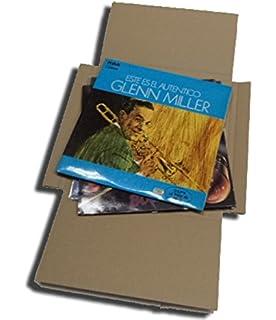 CUIDATUMUSICA 25 Cajas DE Carton Cruz Embalaje Y Envio para Enviar DE 1 A 3 Discos
