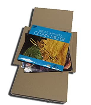 CUIDATUMUSICA 25 Cajas DE Carton Cruz Embalaje Y Envio para Enviar DE 1 A 3 Discos DE Vinilo LP (Los Discos Grandes): Amazon.es: Electrónica