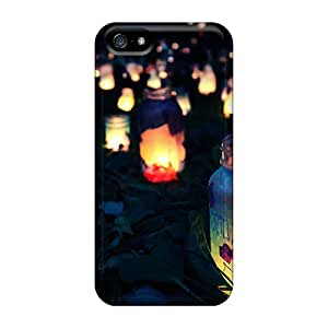 For Just GOGO Iphone Protective Case, High Quality For Iphone 5/5s Bottle Lamps Skin Case Cover